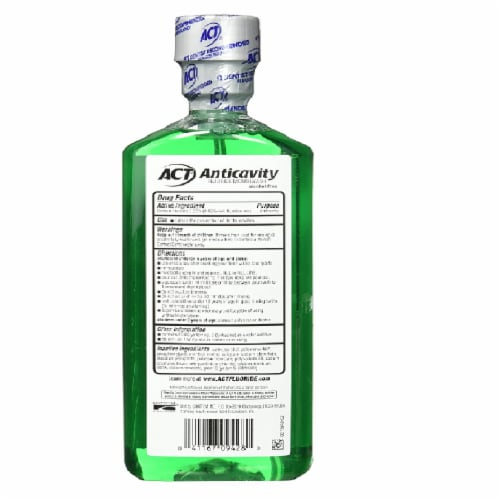 ACT Alcohol Free Anticavity Fluoride Rinse, Mint - 18 oz - 2 pk Perspective: top