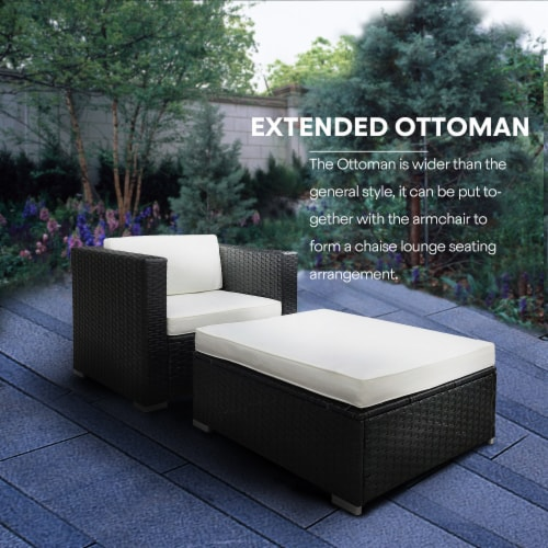 Kumo Outdoor Sectional 4-Piece Patio Furniture Wicker Furniture Sofa Couch Set Perspective: top