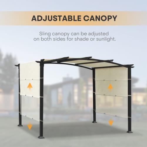 Kumo 10'x8' Pergola Gazebo Canopy Outdoor Patio Garden Steel Frame Sun Shelter Perspective: top