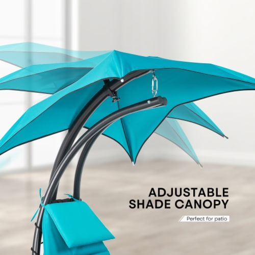 Kumo Hanging Chaise Lounge Chair Canopy Floating Chaise Lounger Swing Hammock Chair Perspective: top