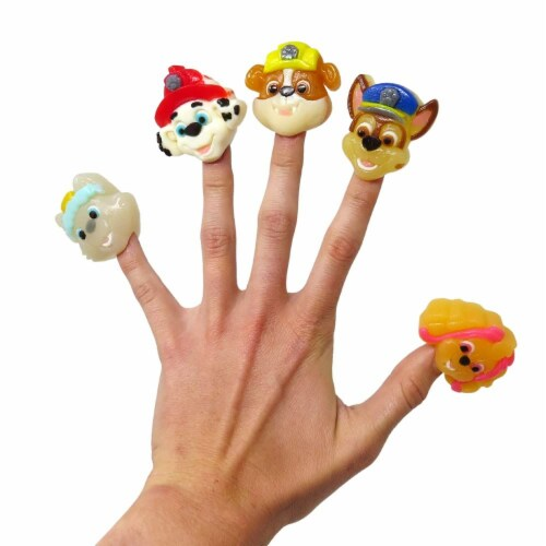 Paw Patrol Gummy Finger Puppet Candy and Collectible Stickers Perspective: top