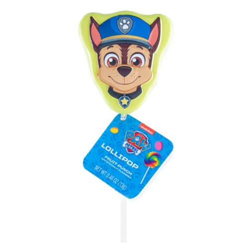 Paw Patrol Lollipop Party Favors with Collectible Keepsake Tin Perspective: top