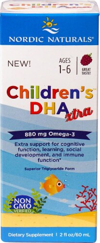 Nordic Naturals Children's DHA Xtra Omega-3 Supplement Liquid 880mg Perspective: top
