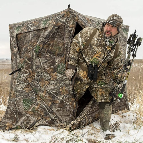 Ameristep Care Taker Kick Out Outdoor 2 Person Hunting Blind Perspective: top