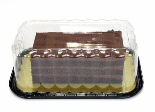 Bakery Chocolate Layer Cake Perspective: top