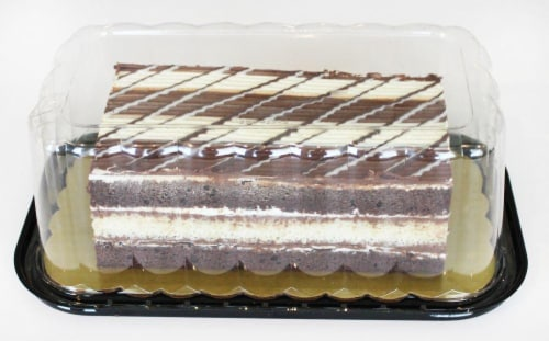 Bakery Triple Chocolate Tiger Cake Perspective: top