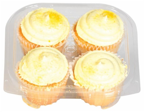 Kimberley's Bakeshoppe Lemon Ice Gourmet Cupcakes Perspective: top
