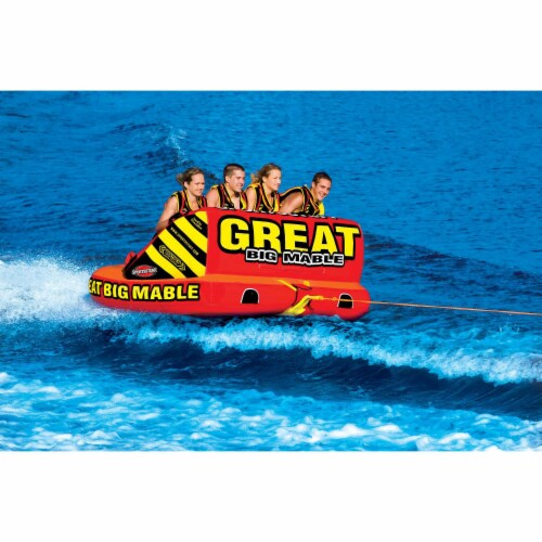 SPORTSSTUFF 53-2218 Great Big Mable 4-Rider Inflatable Towable Tube w/ Tow Rope Perspective: top