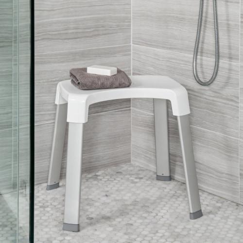 Better Living 70095 SMART 4 Shower Rust Proof Non Slip Aluminum Bench, White Perspective: top