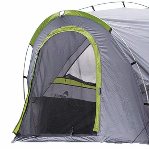 Napier 19 Series Backroadz Full Size Regular Bed 2 Person Truck Tent, Gray/Green Perspective: top