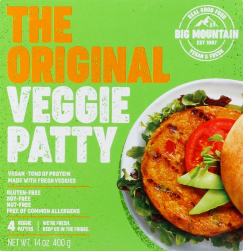 Big Mountain Foods The Original Veggie Patty Perspective: top