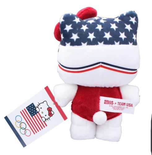Hello Kitty Olympic Swimmer 6 Inch Collectible Plush Perspective: top