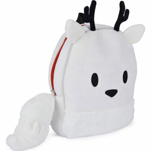 GUND 13 Inch Hilda Twig Soft Plush Kids Stuffed Animal School Backpack, White Perspective: top