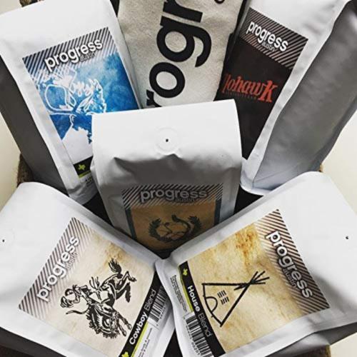 Espresso Blend Coffee Progress Austin Citrus Strong Nutty Crema 12 oz. Perspective: top
