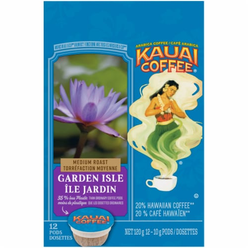Kauai Coffee Garden Isle Medium Roast Ground Coffee Single-Serve Pods Perspective: top