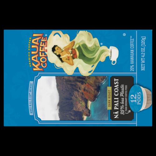 Kauai Coffee® Na Pali Coast Dark Roast Coffee Single-Serve Pods Perspective: top