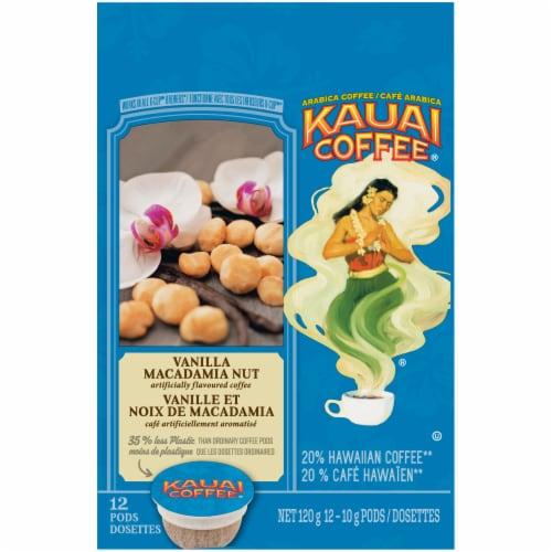Kauai Coffee® Vanilla Macadamia Nut Ground Coffee Single-Serve Pods Perspective: top