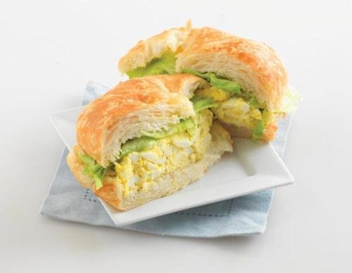 Fresh Kitchen Egg Salad Croissant Perspective: top