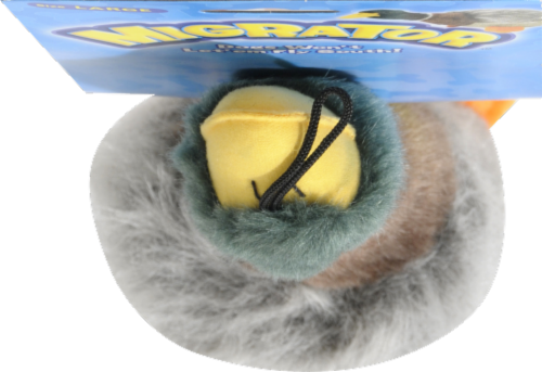 Multipet Migrator Large 15'' Plush Mallard Duck Dog Toy Perspective: top