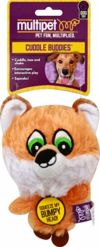Multipet Knobby Noggins Assorted Plush Dog Toy Perspective: top