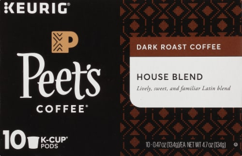 Peet's Coffee House Blend Dark Roast Coffee K-Cup Pods Perspective: top