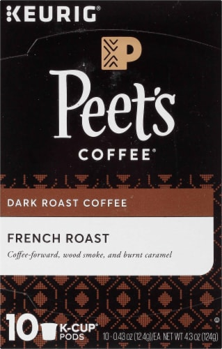 Peet's Coffee French Roast Coffee K-Cup Pods Perspective: top
