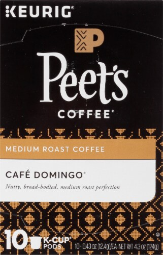 Peet's Coffee Cafe Domingo Medium Roast Coffee K-Cup Pods Perspective: top