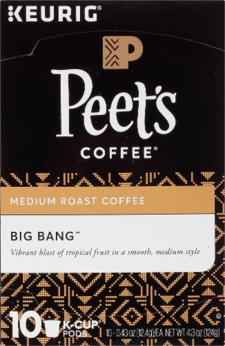 Peet's Coffee Big Bang Medium Roast Coffee K-Cup Pods 10 Count Perspective: top