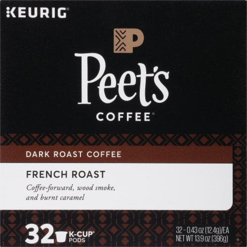 Peet's Coffee French Dark Roast Coffee K-Cup Pods 32 Count Perspective: top