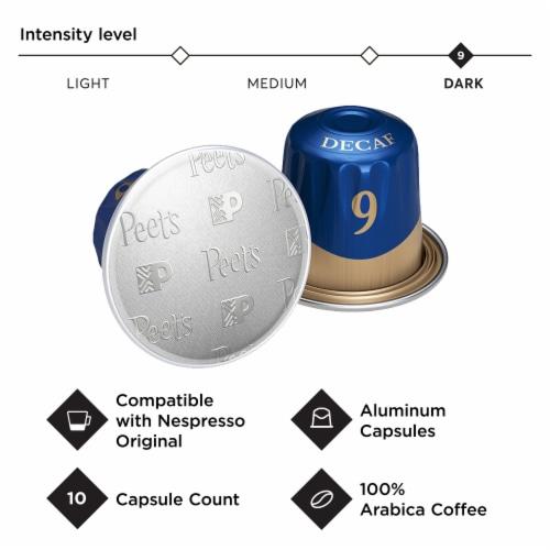 Peet's Coffee Espresso Decaffeinato Ristretto Coffee Capsules Perspective: top