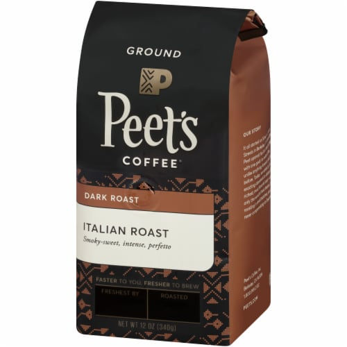 Peet's Coffee Italian Roast Dark Roast Ground Coffee Perspective: top