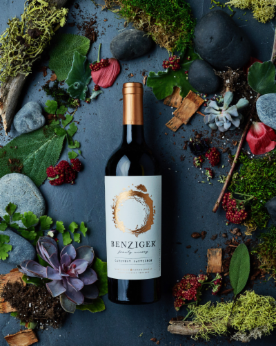 Benziger Cabernet Sauvignon Red Wine Perspective: top