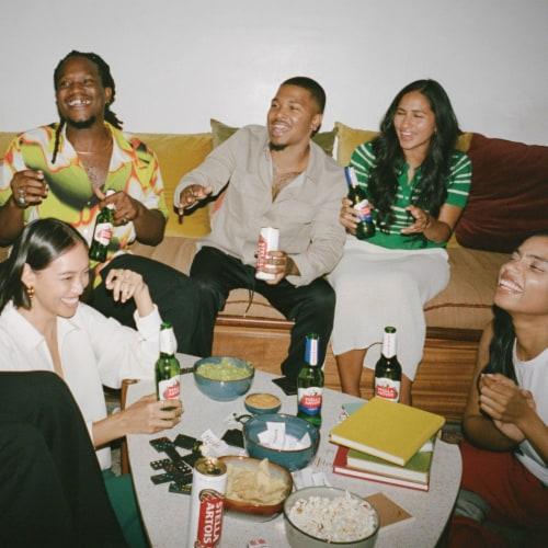 Stella Artois Belgium Lager Beer Perspective: top