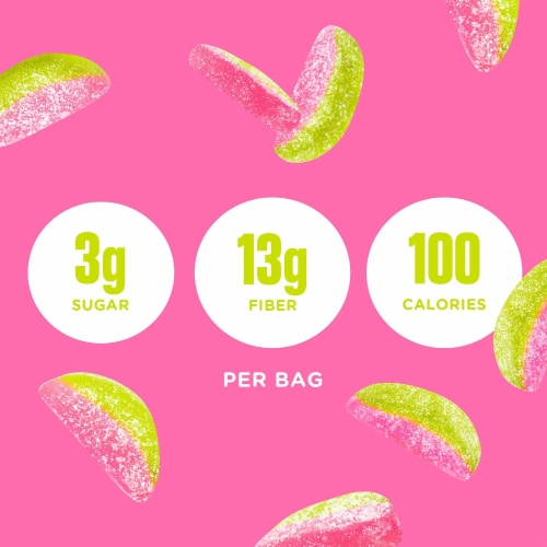 SmartSweets Sourmelon Bites, Candy with Low Sugar (3g), Low Calorie, 1.8 oz (Pack of 12) Perspective: top