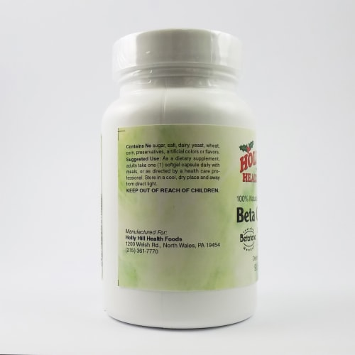 Holly Hill Health Foods, Beta Carotene, 90 Softgels Perspective: top