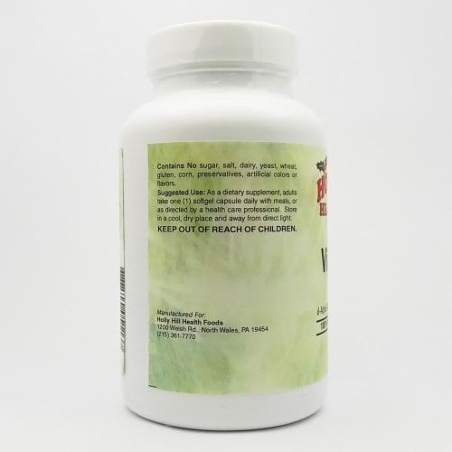 Holly Hill Health Foods, Vitamin E 400 IU, 250 Softgels Perspective: top