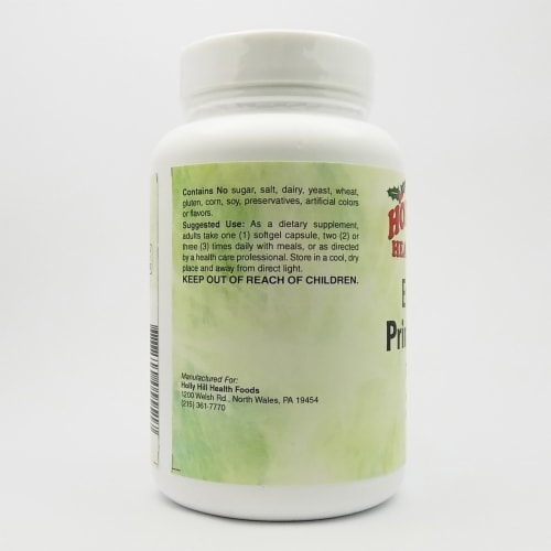 Holly Hill Health Foods, Evening Primrose Oil 1300 MG, Hexane Free, 60 Softgels Perspective: top