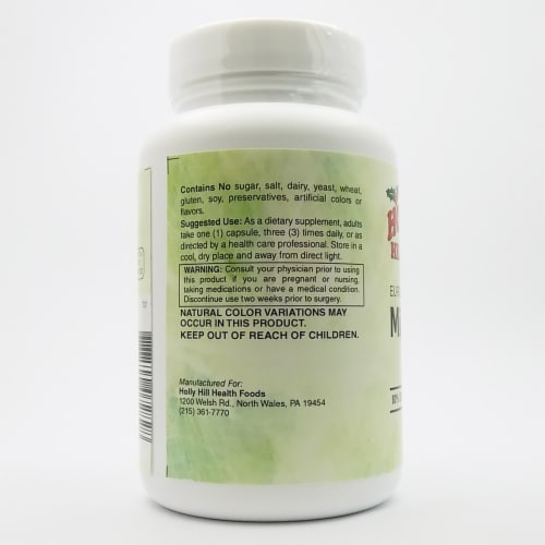 Holly Hill Health Foods, European Standardized Milk Thistle, 175 MG, 120 Capsules Perspective: top
