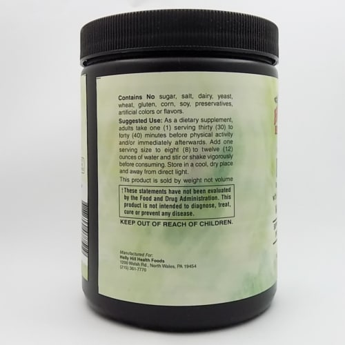 Holly Hill Health Foods, BCAA Powder, Watermelon Flavor, 11.65 Ounces Perspective: top