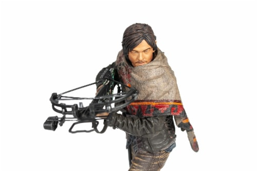 The Walking Dead Daryl Dixon Deluxe Poseable Figure | Measures 10 Inches Tall Perspective: top