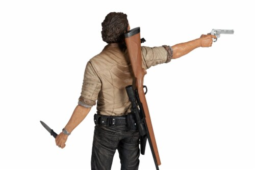 The Walking Dead Rick Grimes Deluxe Poseable Figure | Measures 10 Inches Tall Perspective: top
