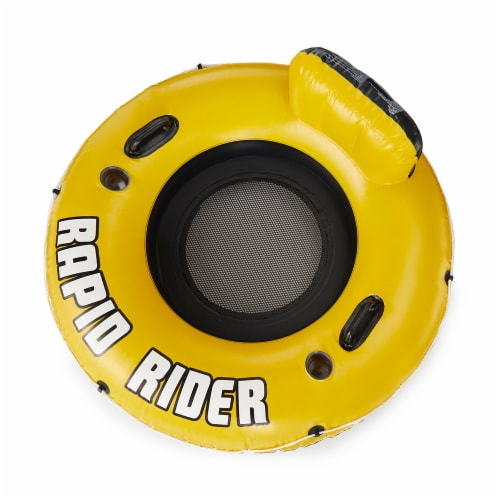 """Bestway CoolerZ Rapid Rider 53"""" Inflatable Pool River Raft Tube Float, Yellow Perspective: top"""