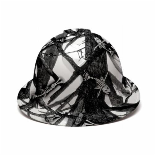 AcerPal 1TT1WH4M-AK1 Fish Bare Bones Hard Hat Helmet w/ 3 Pack Blue Sweatbands Perspective: top