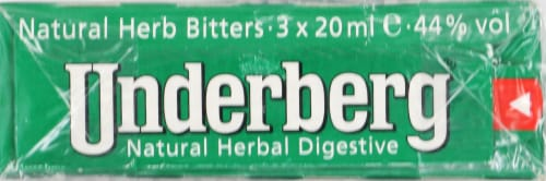 Underberg Natural Herb Bitters Perspective: top
