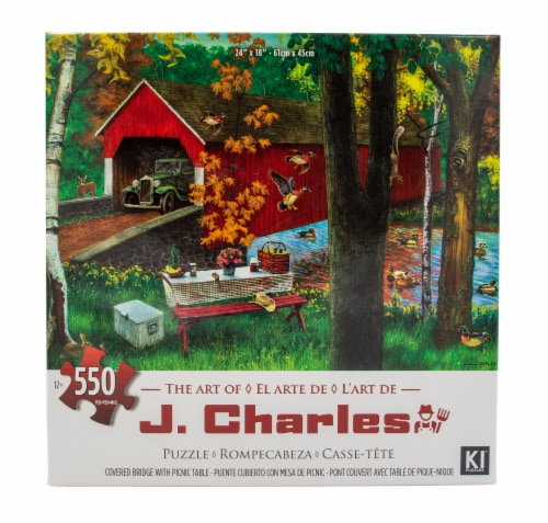James Paul Products The Art of J Charles Puzzle Perspective: top