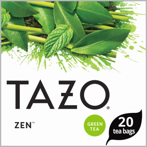 Tazo Zen Green Tea Bags Perspective: top