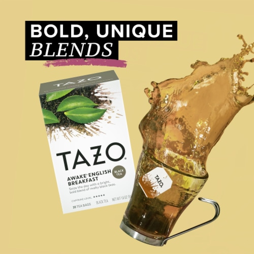 Tazo Awake English Breakfast Black Tea Bags Perspective: top