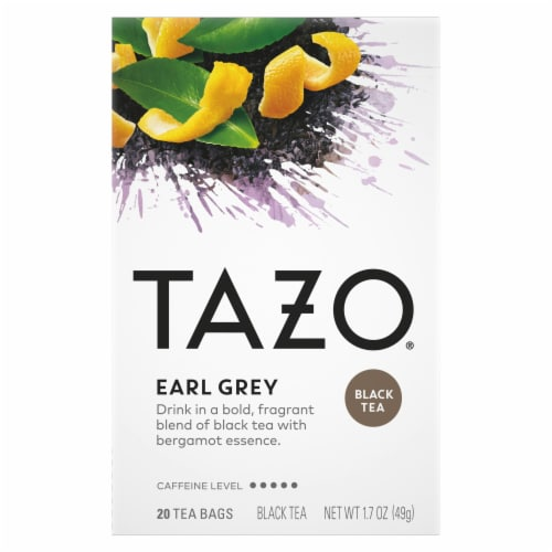 Tazo Earl Grey Black Tea Bags Perspective: top