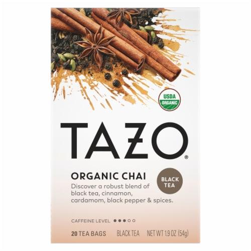 Tazo Organic Chai Black Tea Bags Perspective: top