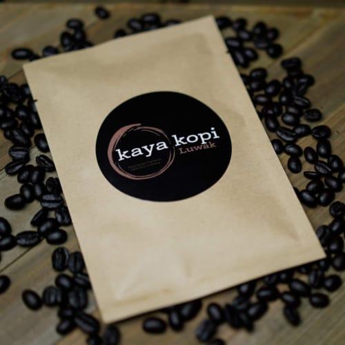 Premium Kaya Kopi Luwak Indonesia Wild Palm Civets Arabica Light Roast Coffee Beans 50 grams Perspective: top